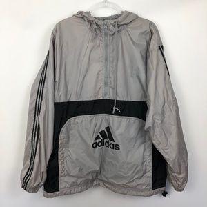 Vintage Adidas Spellout Pullover Windbreaker Coat